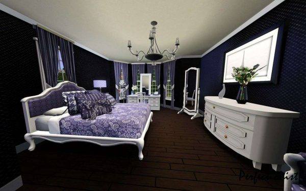 Bore Check Out The Designs Of The White Black And Purple Bedrooms Medium
