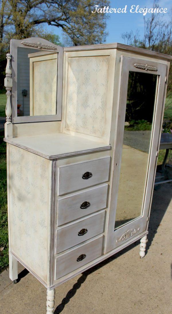 Bore Chifferobe Antique With Mirrordesigns Ideas And Decors Medium