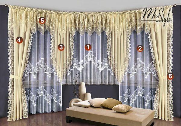 Bore Choice Of Curtains   Pelmets Net Sheer Curtain Swag Medium