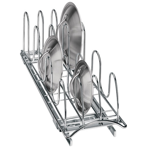 Bore Chrome Rollout Lid Organizer In Pull Out Baskets Medium