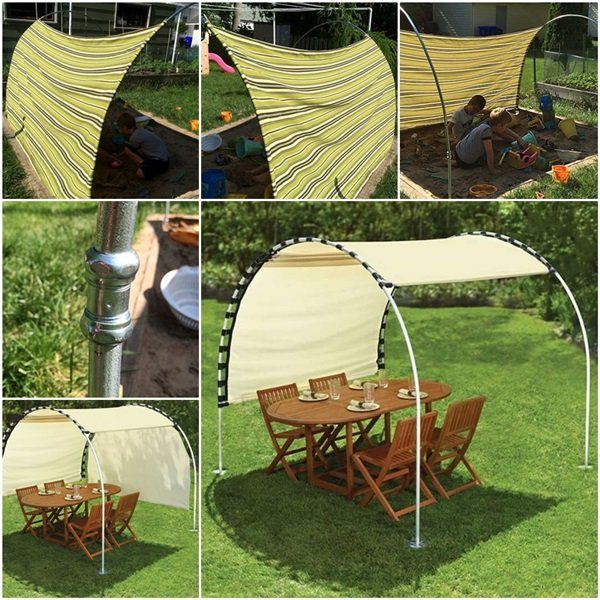Bore Diy Adjustable Sun Tracking Canopy For Your Backyard Medium