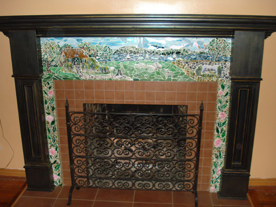 Bore English Cottage Mosaic Fireplace Surrounddesigner Medium