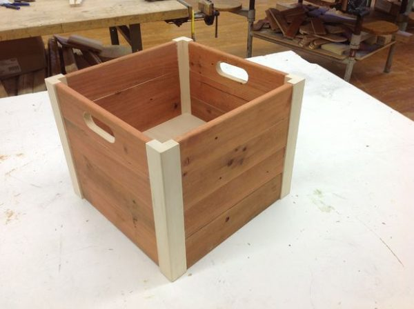 Bore False Bottom Wooden Crate Medium