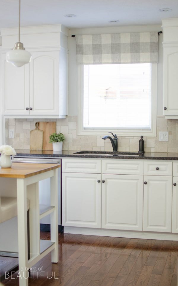 Bore Farmhouse Kitchen Window Valance Tutorial A Burst Of Medium