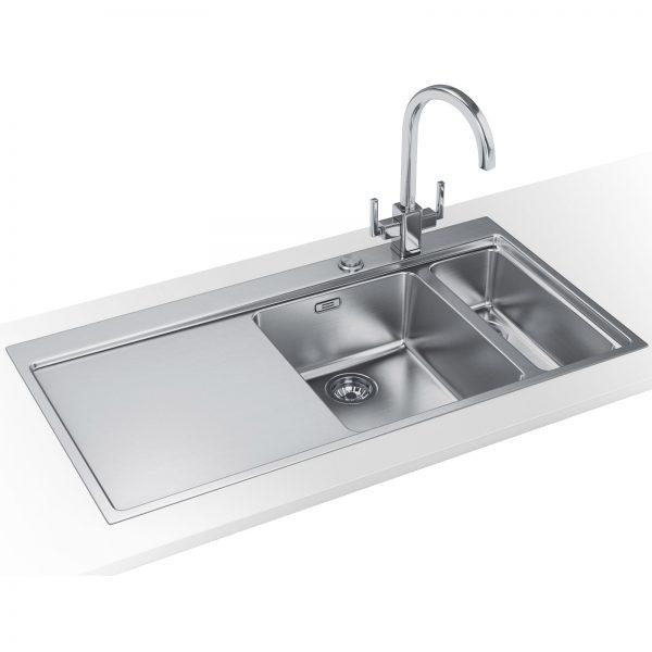 Bore Franke Mythos Slimtop Dp Mmx 261 Stainless Steel Sink And Medium