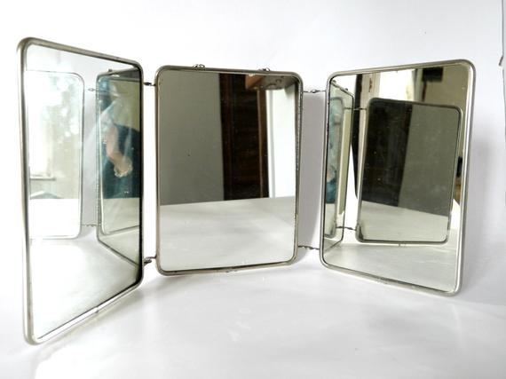 Bore French Vintage Three Way Tri Fold Shaving Vanity By Medium