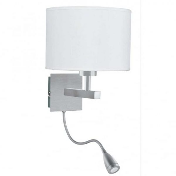 Bore Hotel Style Bedroom Wall Light With Adjustable Led Arm In Medium