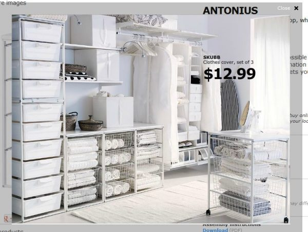 Bore Ikea Antonius Systemwalk In Closet See Medium