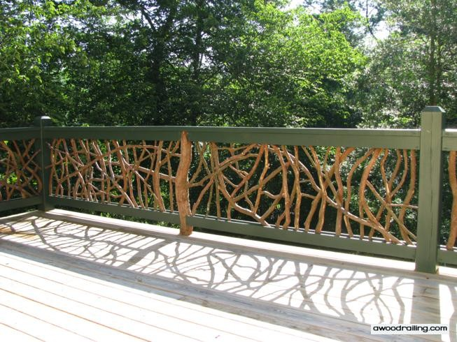 bore mountain laurel deck railing installed on a deck in north