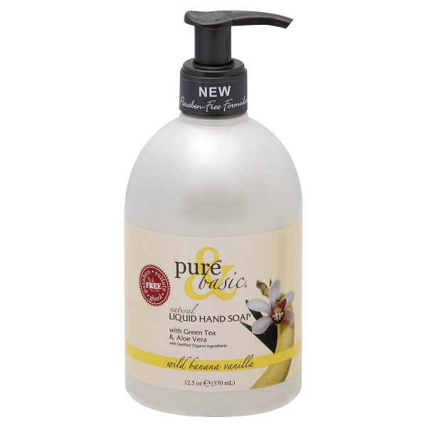 Bore Pure   Basic Products Banana Vanilla Liquid Hand Soap 125 Oz Medium