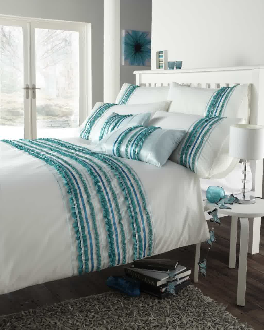 bore turquoise and white bedding set product selectionshomesfeed