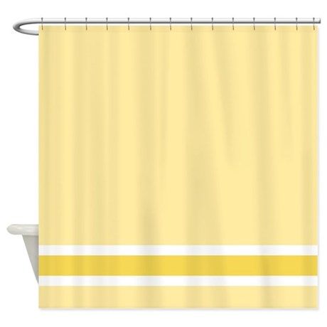 Bore Yellow Stripe Shower Curtain By Fantasyartdesigns Medium