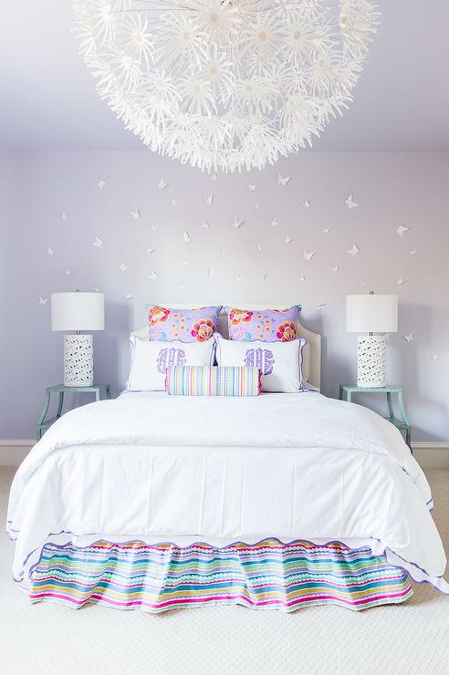 Browse Alyssa Rosenheck Purple And Turquoise Blue Girls Bedroom Medium