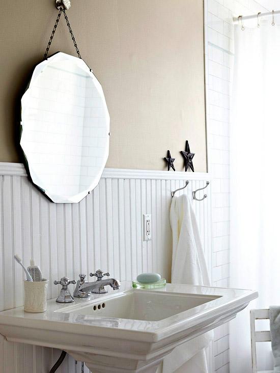 Browse Beadboard Backsplash Cottage Bathroom Bhg Medium