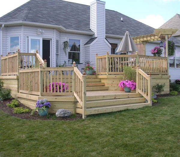 Browse Custom Wood Deck By Elyria Fence Medium
