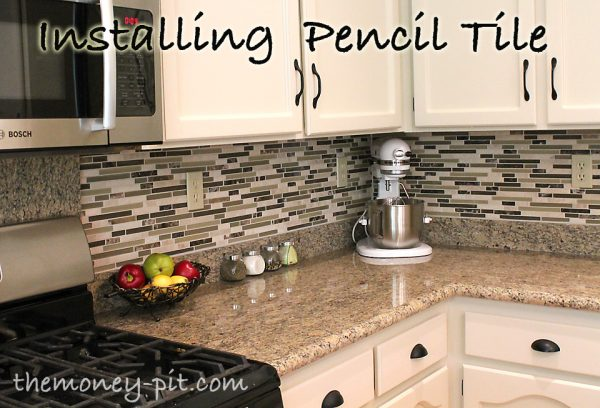 Browse How To Tile A Kitchen Backsplash Using Pencil Tile A Medium