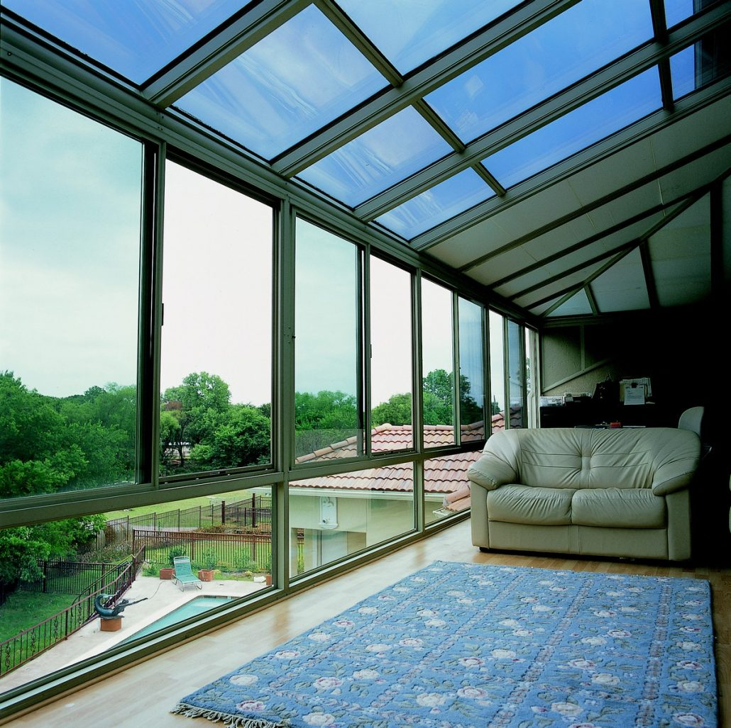 browse hybrid straight glass roof sunroom or patio enclosure