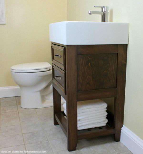 Browse Ikea Hack How To Build A Small Diy Bathroom Vanity Medium