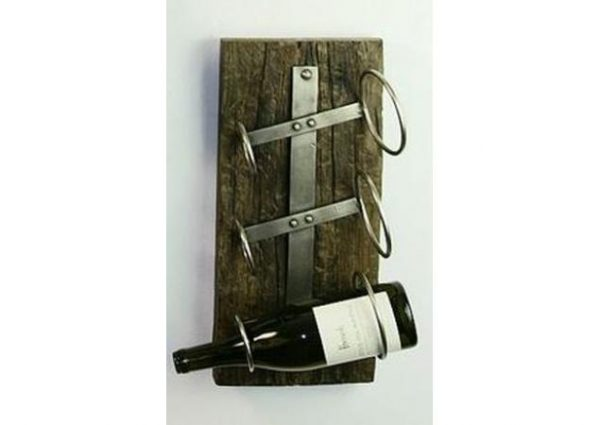 Browse Iron Three Bottle Wall Mounted Wine Rack Medium