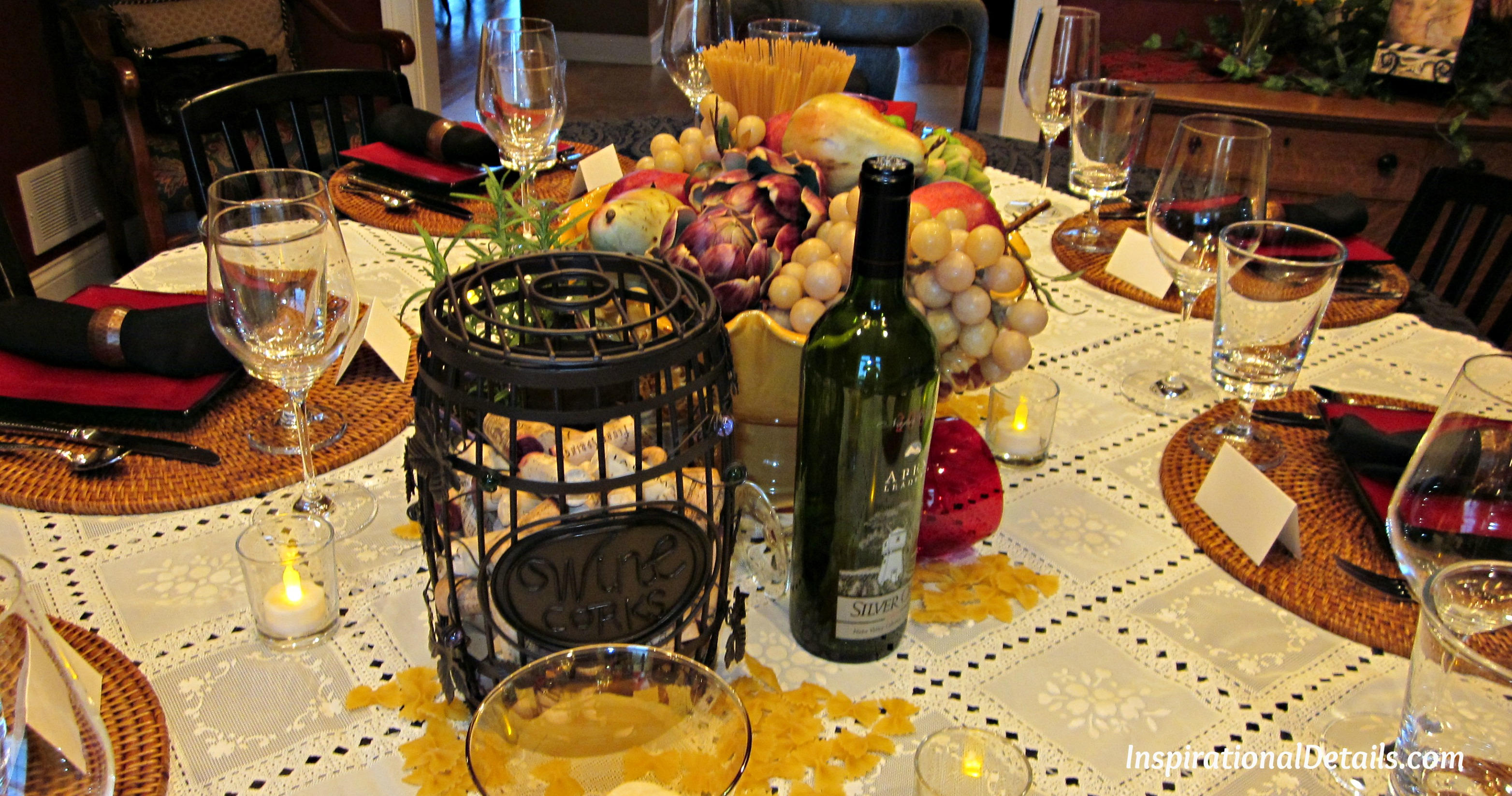 browse italian dinner tablescapeinspirational details