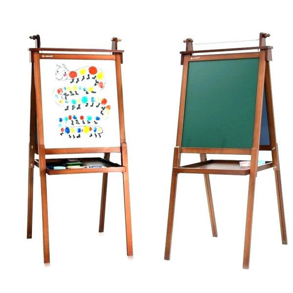 Browse Kids Easel Art Whiteboard Blackboard Stand Wood Magnetic Medium
