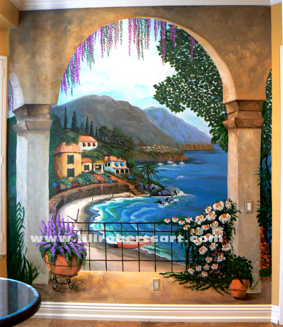 Browse Kitchen Wall Mural Oceanside Mediterranean San Diego Medium