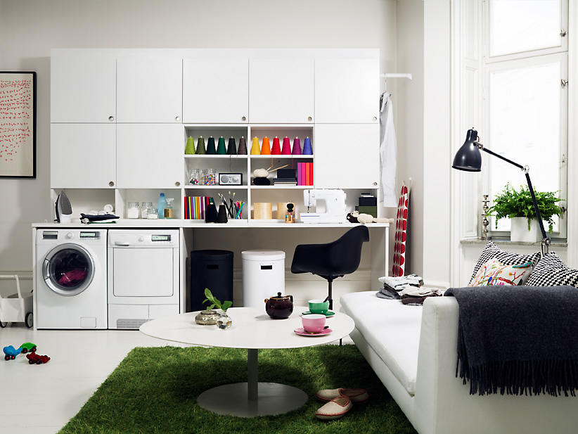 browse laundry room storage organization and inspiration