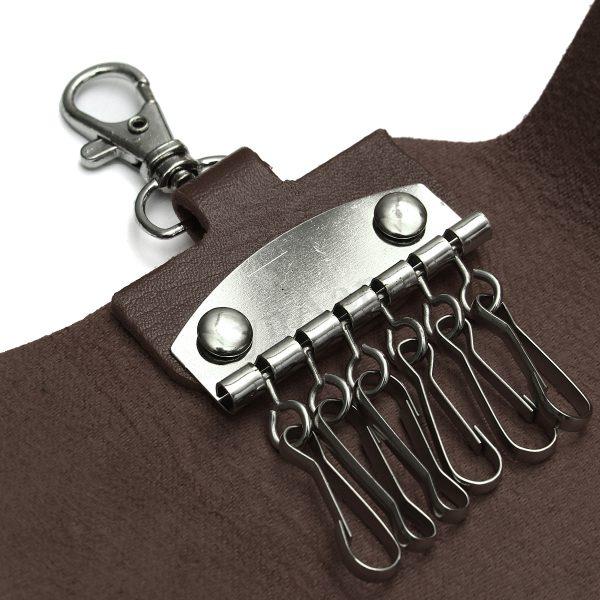 Browse Men Women Leather Keyring Key Holder Keychain Hook Case Medium