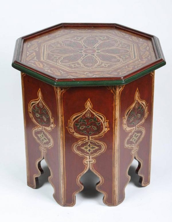 Browse Moroccan Handpainted Side Table With Moorish Designs At Medium