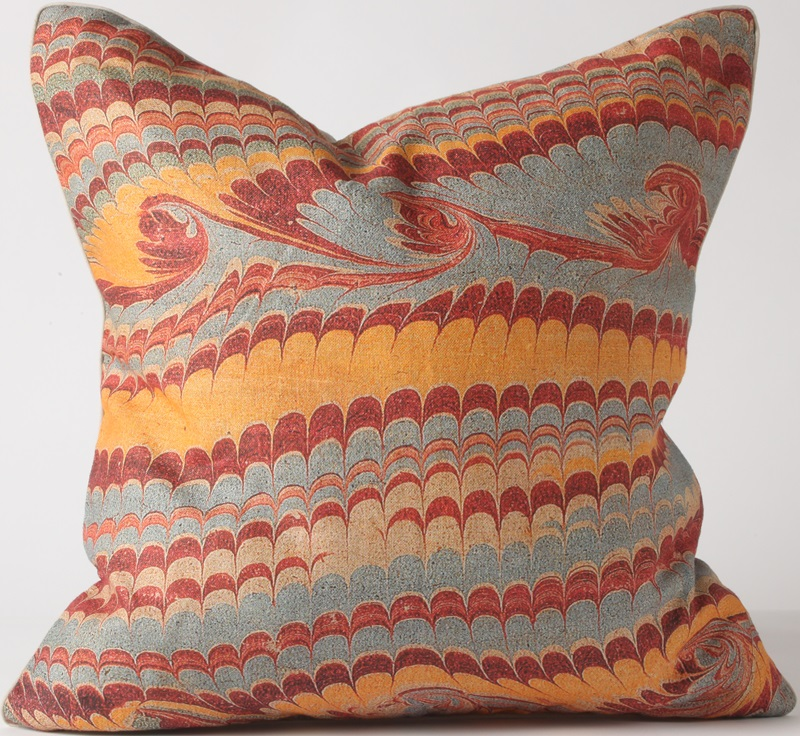 browse red blue and yellow watermark pillow
