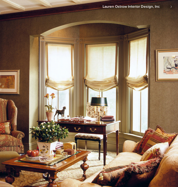 Browse Relaxed Roman Shades In A Bay Window  Simple Sewing Projects Medium