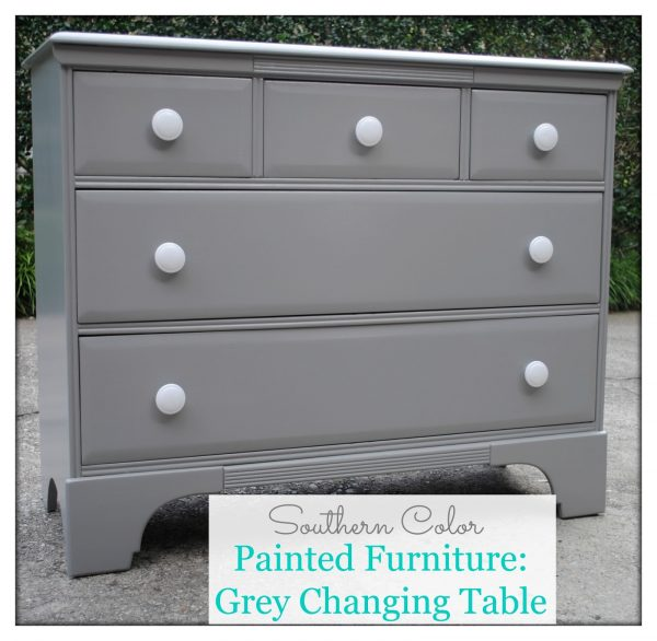 Browse Southern Color Painted Furniture Grey Changing Table Medium