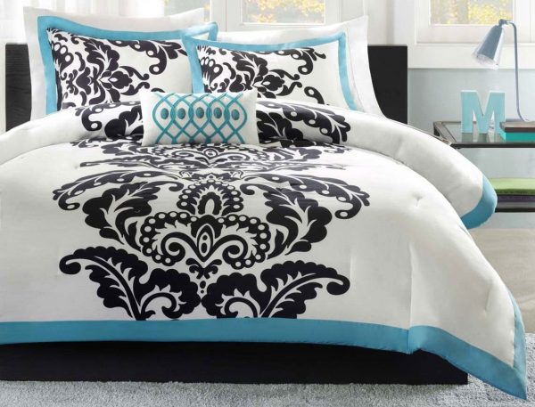 Browse Turquoise And Black Bedding Teal And Black Bedding Medium