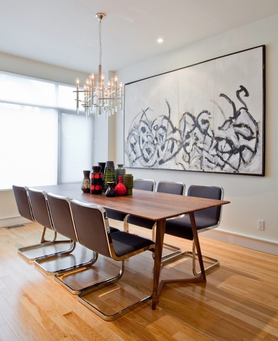 clever 10 dining rooms with oversized art