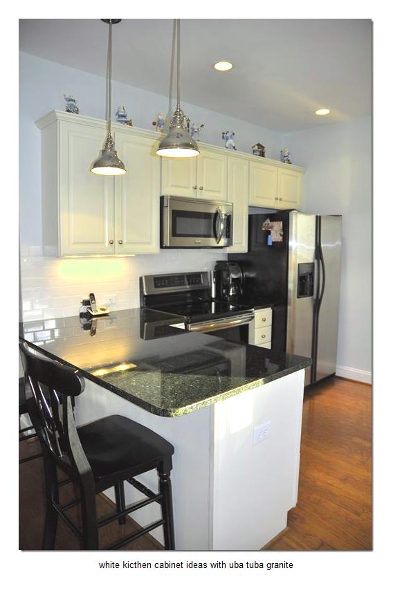 Clever 17 White Kitchen Cabinet Ideas With Uba Tuba Granite Medium