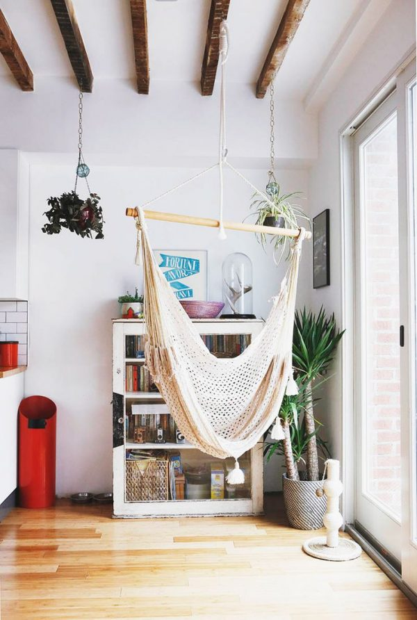 Clever 18 Indoor Hammocks To Take A Relaxing Snooze In Any Time Medium