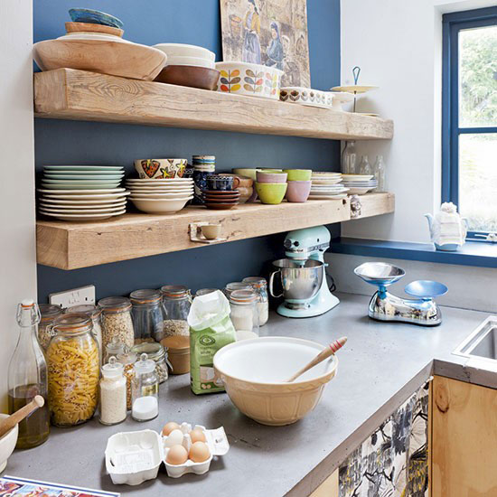 Clever 55 Open Kitchen Shelving Ideas With Closed Cabinets Medium