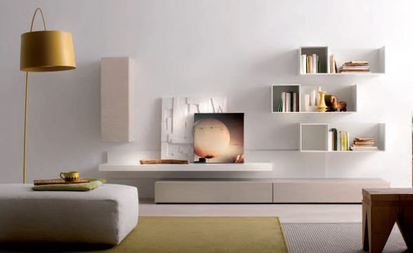 Clever Awesome White Living Room Wall Units Cubicles Shelves Medium