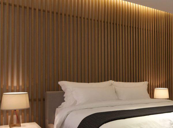 Clever Bedroom Wall Design Idea Create A Wood Slat Accent Wall Medium