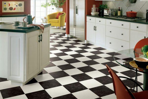 Clever Black   White Vinyl Flooring Medium
