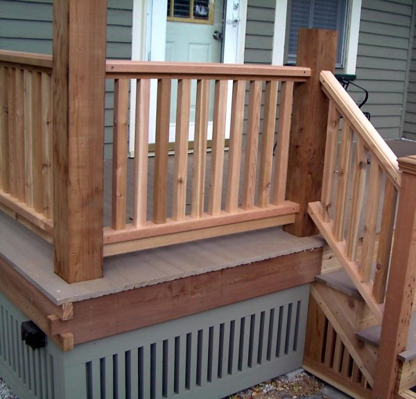 Clever Cedar Porch Railing Designs Medium