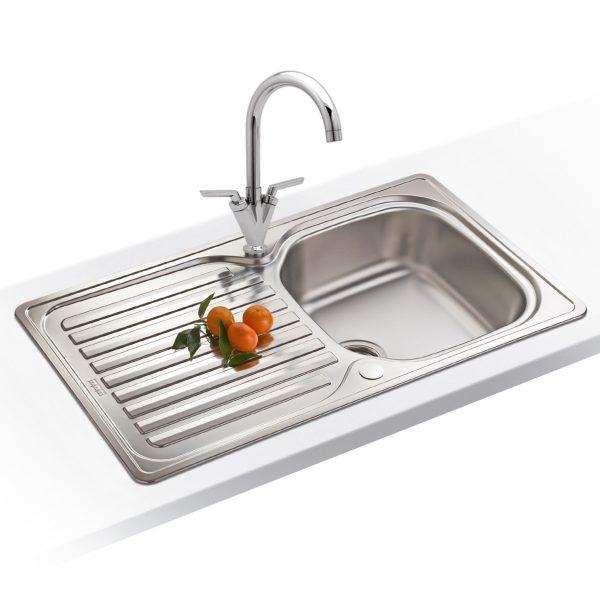 Clever Franke Elba 10 Bowl Polished Stainless Steel Kitchen Sink Medium