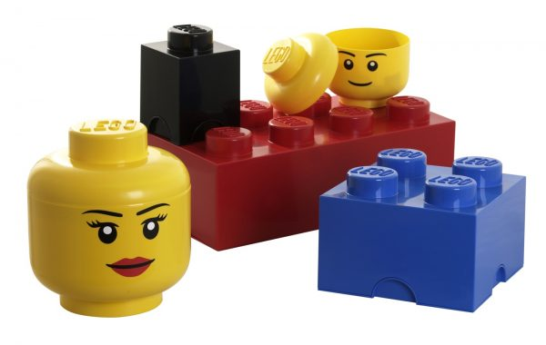 Clever Furniture Impressive Colourful Lego Storage Cube As Toy Medium