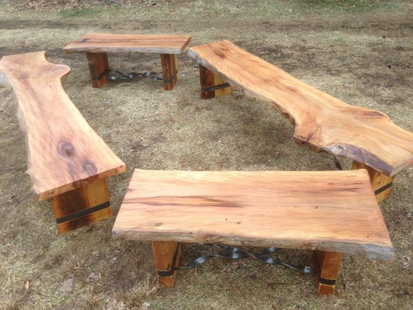 Clever Hand Crafted Slab Benches By Endless Designcustommadecom Medium