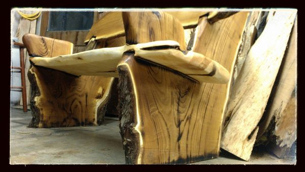 Clever Hand Made Live Edge Rustic Benchcrotch Wood Slabs By Medium