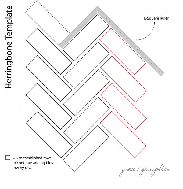 Clever How To Start A Herringbone Tile Patterntile Design Ideas Medium