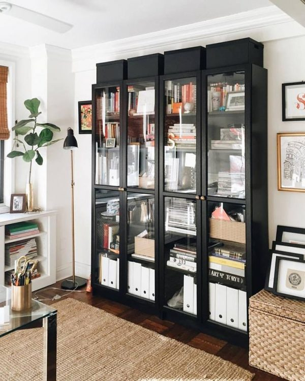 Clever Ikea Billy Bookcase With Glass Doorsh O M E Medium