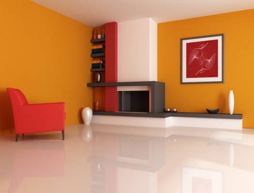 clever interior paint scheme for duplex living room by asian