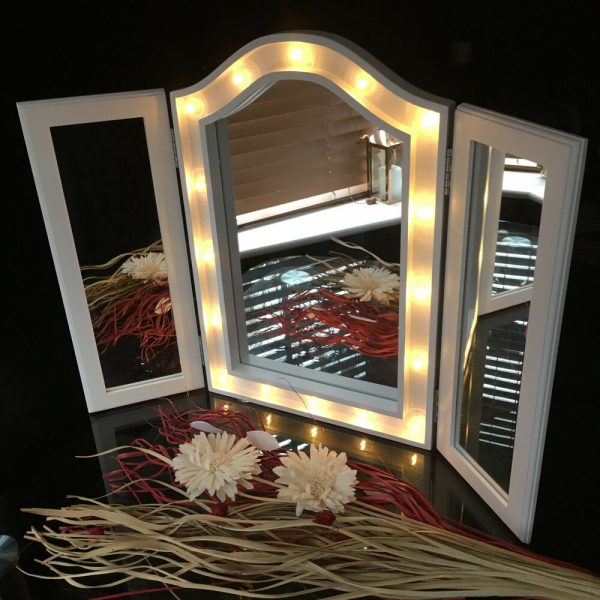 Clever Large Triple Fold 3way Sections Led Mirror Led Dressing Medium