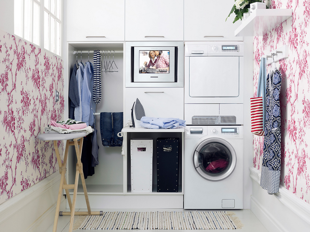 clever laundry room storage organization and inspiration